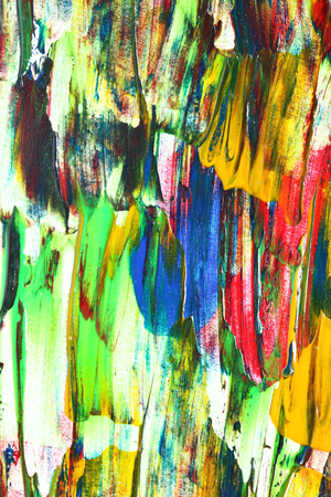 bright paintings: Colorful oil paintied texture - abstract background