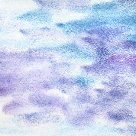 violet: Blue violet watercolor abstract background with strokes