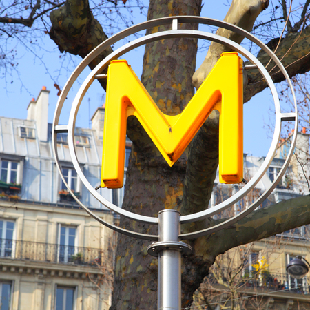 france station: Paris, France - March 05, 2011: Close up of Paris metro sign Editorial