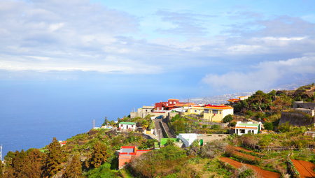 Picturesque view of small village on coast of Tenerife, Canary Islands Stock Photo