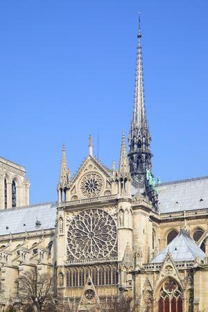 broach: Gothic broach of Notre Dame de Paris Stock Photo