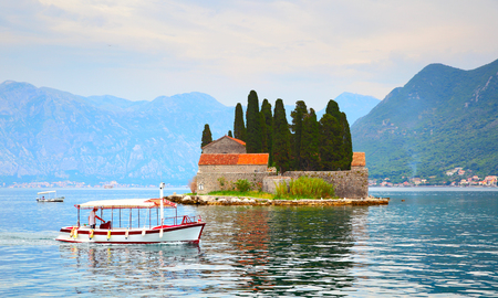 Small St. George Island in the Kotor Bay, Montenegro