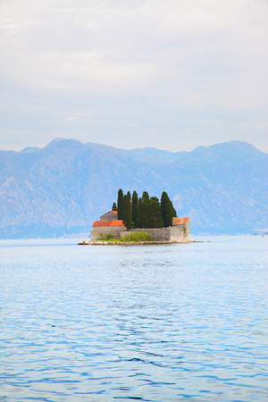 Picturesque small St. George Island in the Kotor Bay, Montenegro