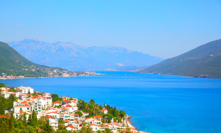 The Bay of Kotor and Herceg Novi town in Montenegro