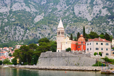 St. Matthews church in Dobrota town, Montenegro Stock Photo