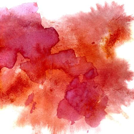 빨간색 수채화 얼룩 - 추상적 인 배경