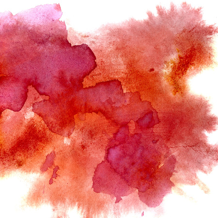 Red watercolor stains - abstract background