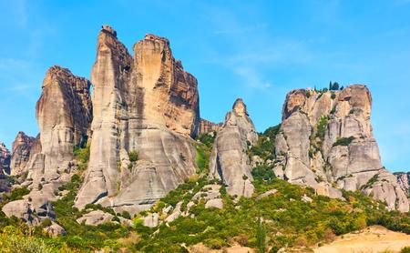 Landscape - Rocks in Meteora, Kalambaka, Greece Stock Photo