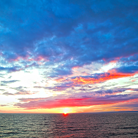 Seascape - Colorful sundown over Baltic Sea