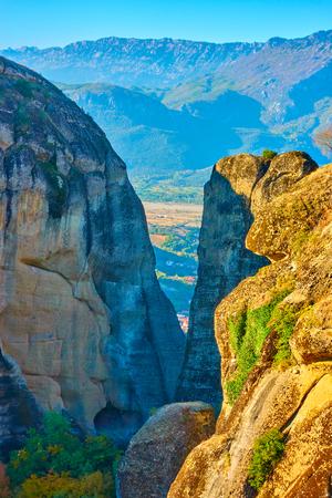 View of rocks in The Meteora, Kalambaka, Greece