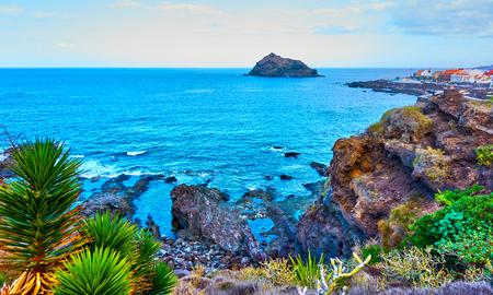 Rocky coast of Tenerife Island near Garachico town, The Canaries