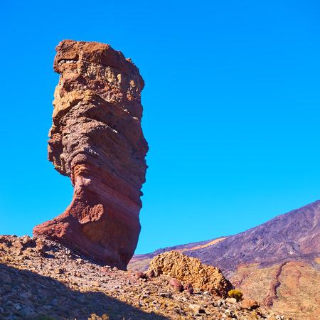 The Roque Cinchado near El Teide - symbol of Tenerife island, The Canaries