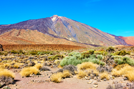 The Teide volcano (Pico del Teide) in Tenerife,  Canary Islands Stock Photo