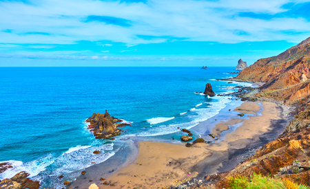 Benijo beach (Playa Benijo) in The North of Tenerife, The Canaries