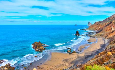Benijo beach (Playa Benijo) in The North of Tenerife, The Canaries