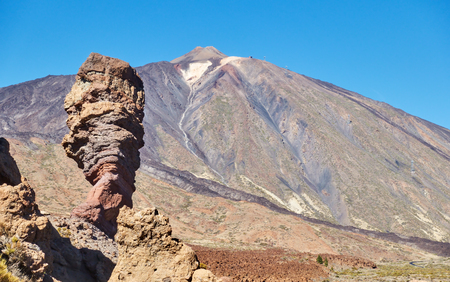 Classic view of The Teide volcano in Tenerife, Canary Islands