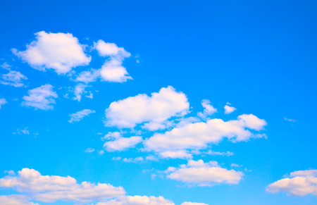 Blue sky with clouds - may be used as background, space for text