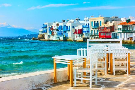 Little Venice in Mykonos Island, Cyclades, Greece
