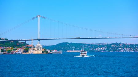 The Bosphorus Bridge (15 July Martyrs Bridge) in Istanbul, Turkey