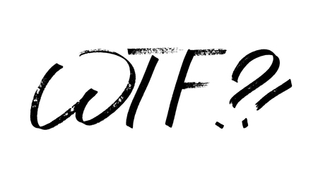 WTF - Modern calligraphy, hand drawn marker pen lettering