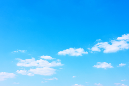 Good weather - Almost clear blue sky, background with space for text Archivio Fotografico