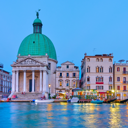 The Grand Canal and San Simeone Piccolo church in Venice in the evening, Italy Reklamní fotografie