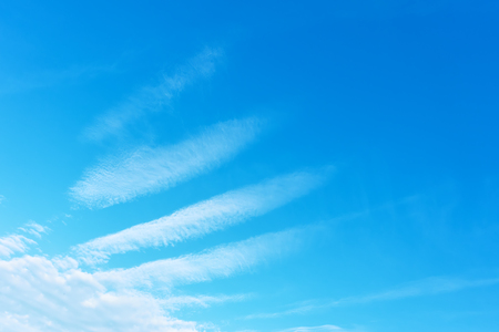 Angel wing - Blue sky with phenomenal white clouds. Background with space for your own text Stock Photo