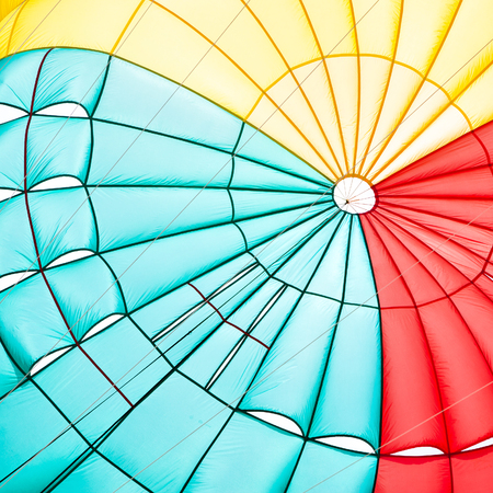 Parachute canopy close-up - Abstract multicolour composition