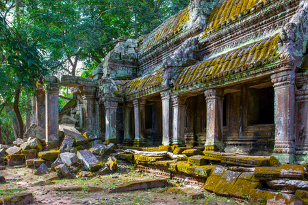 Ancient ruins of Ta Prohm temple in the Angkor Wat, Cambodia