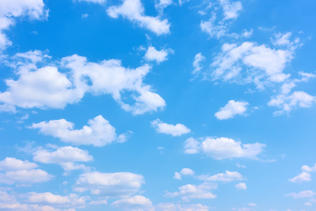 Blue sky and white clouds, may be used as background Banco de Imagens