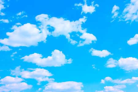 Beautiful blue sky with white clouds -  background with space for your own text
