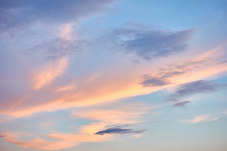Beautiful sunset sky with colorful clouds - natural background Reklamní fotografie - 129637664