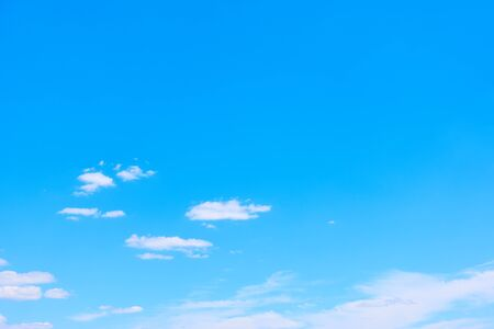 Blue sky with white clouds -  perfect background with large space for your own text