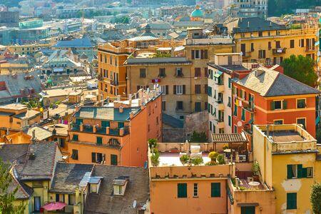 Residential buildings of Castelletto district in Genova, Italy Reklamní fotografie - 129636798