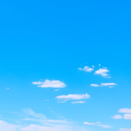 Blue sky and white clouds -- background with copy space
