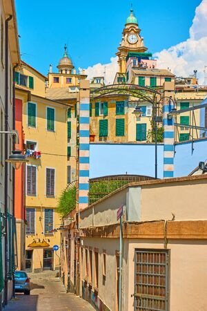 View of central part of Genoa (Genova) city, Liguria, Italy Stock Photo