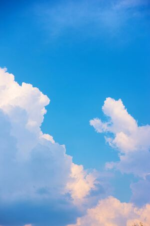 Blue sky with cumulus clouds - background