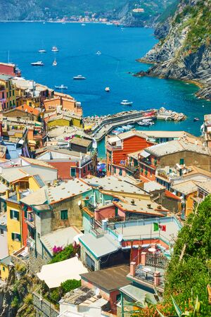 Roofs of Vernazza - small town by the sea in Cinque Terre National Park, Italy Reklamní fotografie