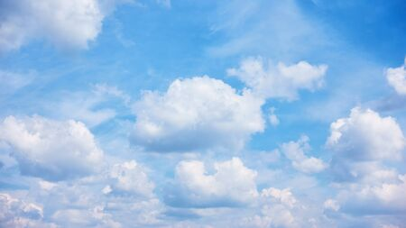Sky with heap clouds, may be used as background Imagens