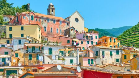 Panoramic view of Vernazza town in Cinque Terre National Park, Italy Reklamní fotografie