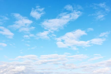 Blue sky with light white clouds -  background with copy space Reklamní fotografie