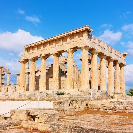 Temple of Aphaea in Aegina island in Greece