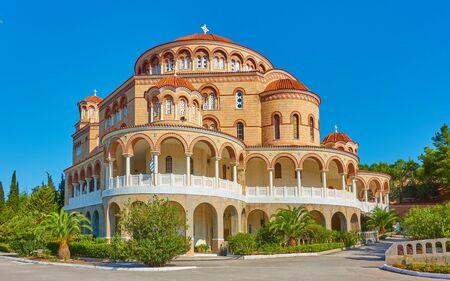 The church of Agios Nektarios (Saint Nectarios) in Aegina Island, Greece
