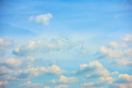 Evening sky with heap clouds, may be used as background