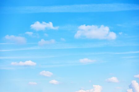 The blue sky with clouds -  background with space for your own text 스톡 콘텐츠