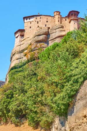 The Monastery of Rousanou (St. Barbara) on the cliff in Meteora, Kalabaka, Greece