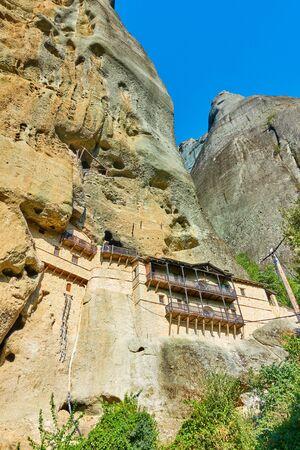 Monastery in the rock in Meteora near Kastraki village, Greece