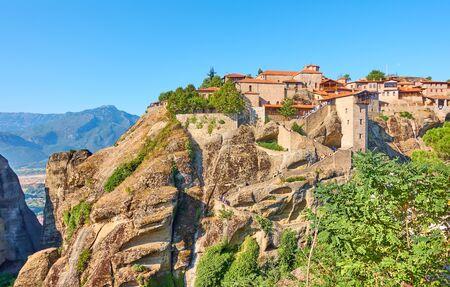 The Monastery of Great Meteoron in Meteora, Greece -  Greek landscape