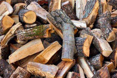 Firewood -  Heap of wood logs