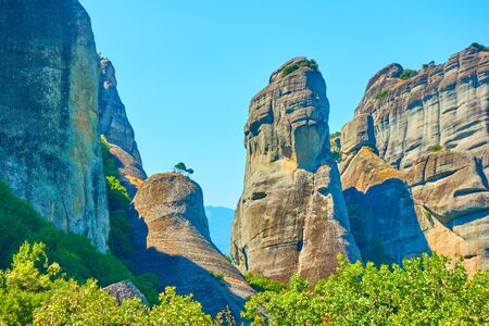 Landscape with cliffs in Meteora, Thessaly, Greece -  Picturesque greek scenery Reklamní fotografie